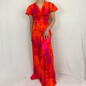 Dresses & Skirts - Hawaiian Print Neon Maxi Dress
